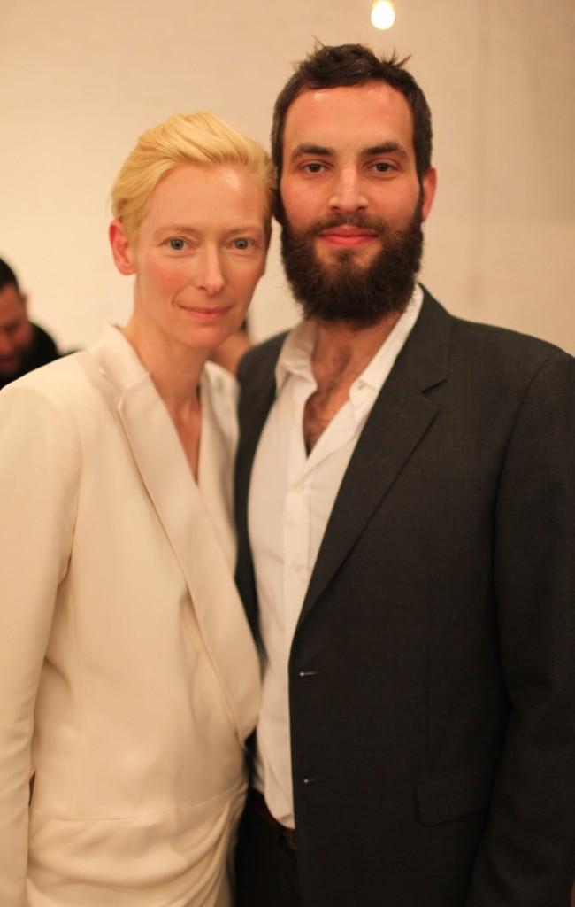 Tilda Swinton with fun, talented, intelligent, Husband Sandro Kopp